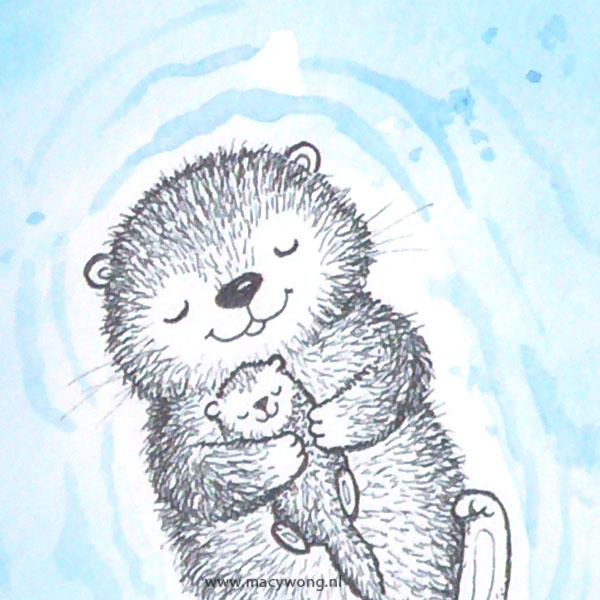 Otter mommy